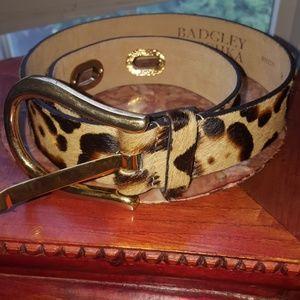 Badgley Mischka leopard print leather belt size M